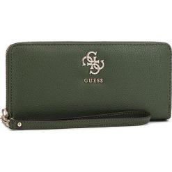 Duży Portfel Damski GUESS - SWVG68 53460 OLV. Zielone portfele damskie Guess, z aplikacjami, ze skóry ekologicznej. Za 279,00 zł.