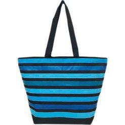 """Torba plażowa """"Playa"""" w kolorze niebiesko-błękitnym - 35 x 58 x 23 cm. Niebieskie torby plażowe Le Comptoir de la Plage, z tworzywa sztucznego. W wyprzedaży za 38,95 zł."""