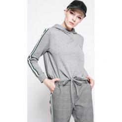 Answear - Bluza Sporty Fusion. Szare bluzy rozpinane damskie ANSWEAR, l, z bawełny, z kapturem. W wyprzedaży za 59,90 zł.