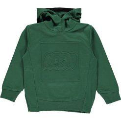 """Bluza """"Sebastian 601"""" w kolorze ciemnozielonym. Zielone bluzy chłopięce rozpinane LEGO Wear, z nadrukiem. W wyprzedaży za 92,95 zł."""
