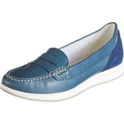 """Mokasyny damskie: Skórzane mokasyny """"Avery"""" w kolorze niebieskim"""