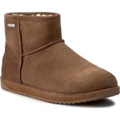 Buty EMU AUSTRALIA - Paterson Mini W10946 Oak 2016. Brązowe buty zimowe damskie marki EMU Australia, z gumy, za kostkę. W wyprzedaży za 409,00 zł.