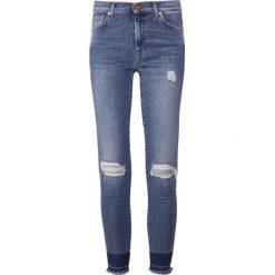 7 for all mankind SKINNY CROP UNROLLED SLIM ILLUSION DISTRESSED Jeans Skinny Fit nostalgia. Niebieskie boyfriendy damskie 7 for all mankind, z bawełny. Za 1089,00 zł.