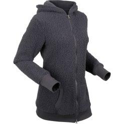 """Bluza z polaru """"baranek"""", długi rękaw bonprix szary łupkowy. Szare bluzy polarowe marki bonprix, z długim rękawem, długie. Za 119,99 zł."""