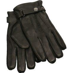 Rękawiczki męskie. Czarne rękawiczki męskie Gino Rossi, na jesień, ze skóry. Za 229,90 zł.