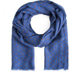 Szal męski SZN0002208. Niebieskie szaliki męskie Giacomo Conti, na zimę, z tkaniny. Za 139,00 zł.