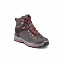 Buty trekkingowe wysokie TREK 500 damskie. Brązowe buty trekkingowe damskie marki QUECHUA. Za 399,99 zł.
