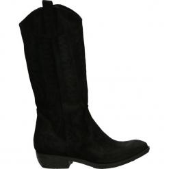 Kozaki - MS77 CRO NERO. Czarne buty zimowe damskie Venezia, ze skóry. Za 499,00 zł.