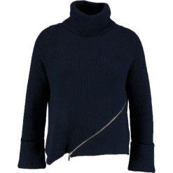 Swetry klasyczne damskie: Karen Millen CHUNKY ZIP JUMPER Sweter navy