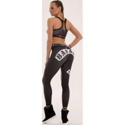 Spodnie dresowe damskie: Real Wear Leginsy damskie Rebel czarne r. S