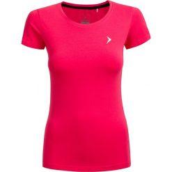 T-shirt damski  TSD600 - różowy - Outhorn. Szare t-shirty damskie marki Outhorn, melanż, z bawełny. W wyprzedaży za 24,99 zł.