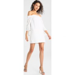 Sukienki: Missguided BARDOT FRILL SLEEVE SHIFT DRESS Sukienka letnia white