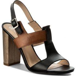 Sandały damskie: Sandały SOLO FEMME - 62451-35-H74/G51-07-00 Czarny/Camel