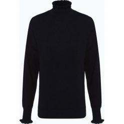 Opus - Sweter damski – Puzzi, niebieski. Niebieskie swetry klasyczne damskie Opus, z falbankami. Za 419,95 zł.