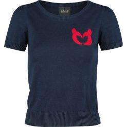 Collectif Clothing Libby Lobster Love Knitted Top Koszulka damska granatowy. Niebieskie bluzki damskie Collectif Clothing, xl, z materiału, z okrągłym kołnierzem. Za 74,90 zł.
