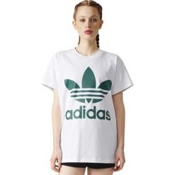 Bluzki damskie: Adidas Koszulka damska BIG TREFOIL TEE biała r. 38 (BR9822)