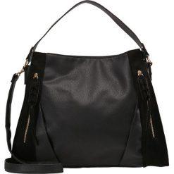 New Look FRAN FOLD ZIP DETAIL Torba na zakupy black. Czarne shopper bag damskie marki New Look, z materiału, na obcasie. Za 129,00 zł.