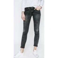 Haily's - Jeansy Ella. Szare jeansy damskie rurki Haily's, z bawełny, z obniżonym stanem. W wyprzedaży za 139,90 zł.