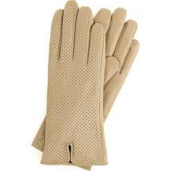 Rękawiczki damskie 45-6-520-6A. Brązowe rękawiczki damskie Wittchen. Za 99,00 zł.