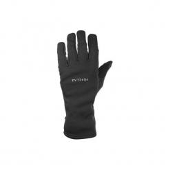 Rękawiczki trekkingowe górskie Trek 500. Czarne rękawiczki damskie marki QUECHUA, z elastanu. Za 39,99 zł.