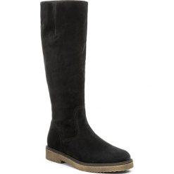 Kozaki GABOR - 71.658.16 Pazifik. Niebieskie buty zimowe damskie Gabor, z materiału, przed kolano, na wysokim obcasie, na obcasie. W wyprzedaży za 429,00 zł.