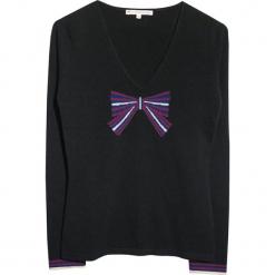 Sweter kaszmirowy w kolorze czarnym. Czarne swetry klasyczne damskie marki Ateliers de la Maille, z kaszmiru. W wyprzedaży za 409,95 zł.