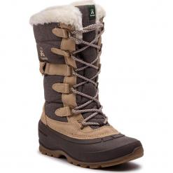 Śniegowce KAMIK - Snovalley2 NK2176 Brown. Szare buty zimowe damskie Kamik, z materiału. W wyprzedaży za 339,00 zł.