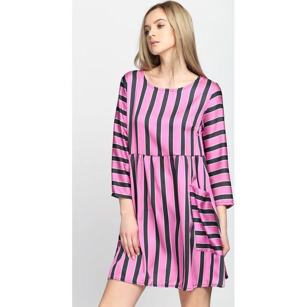 d9eed5f1f5 Fuksjowa Sukienka Oyster - Różowe sukienki damskie Born2be
