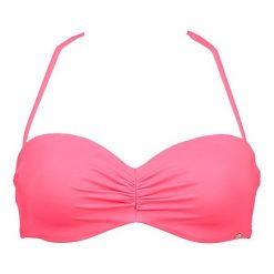 Biustonosz bikini w kolorze fuksji. Czerwone biustonosze bezszwowe Skiny, z materiału. W wyprzedaży za 60,95 zł.