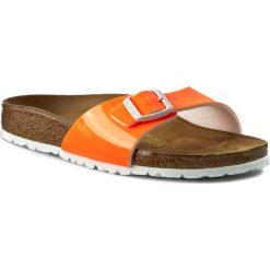 Chodaki damskie: Klapki BIRKENSTOCK - Madrid 0439803 Patent Neon Orange