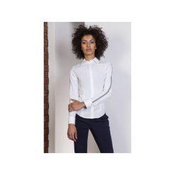 Koszula ecru z lampasami, K109. Białe koszule wiązane damskie Lanti. Za 119,00 zł.