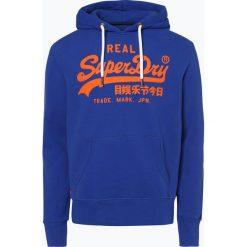 Superdry - Męska bluza nierozpinana, niebieski. Niebieskie bejsbolówki męskie Superdry, l, z nadrukiem, z kapturem. Za 349,95 zł.