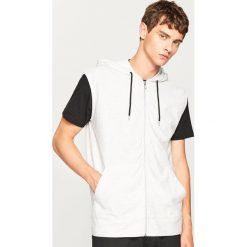 Bluza z krótkim rękawem - Jasny szar. Szare bejsbolówki męskie Reserved, l, z krótkim rękawem, krótkie. W wyprzedaży za 39,99 zł.