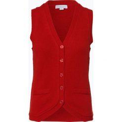 Brookshire - Damska kamizelka dzianinowa, czerwony. Czarne kamizelki damskie marki brookshire, m, w paski, z dżerseju. Za 129,95 zł.