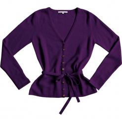 Kardigan kaszmirowy w kolorze fioletowym. Fioletowe kardigany damskie marki Ateliers de la Maille, z kaszmiru. W wyprzedaży za 363,95 zł.