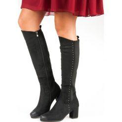 WYGODNE KOZAKI NA OBCASIE VINCEZA. Czerwone buty zimowe damskie Vinceza, na obcasie. Za 199,00 zł.