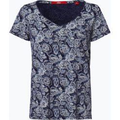 S.Oliver Casual - T-shirt damski, niebieski. Niebieskie t-shirty damskie s.Oliver Casual, s. Za 59,95 zł.