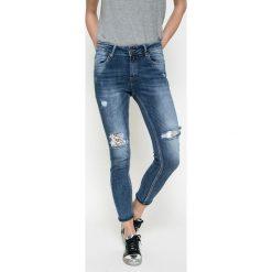 Answear - Jeansy. Niebieskie jeansy damskie ANSWEAR, z bawełny. W wyprzedaży za 99,90 zł.