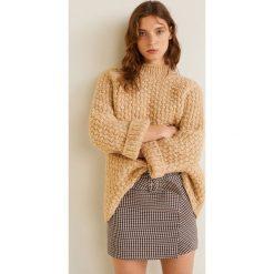 Mango - Spódnica Chok. Brązowe spódniczki Mango, m, z bawełny, midi, proste. Za 139,90 zł.