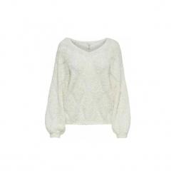 Swetry Only  JERSEY  onlMALIA 7/8 PULLOVERKNT. Białe swetry klasyczne damskie ONLY, m, z jersey. Za 177,40 zł.