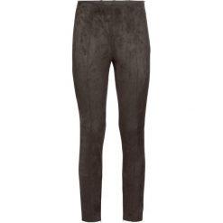 Legginsy z materiału w optyce skóry welurowej bonprix brązowy. Brązowe legginsy skórzane bonprix, w paski. Za 124,99 zł.