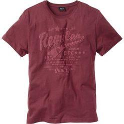 T-shirty męskie z nadrukiem: T-shirt Regular Fit bonprix bordowy