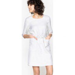 Sukienki: Prosta sukienka z twillu, suwak na plecach