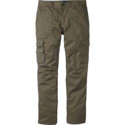 """Spodnie """"bojówki"""" z powłoką z teflonu Regular Fit Straight bonprix ciemnooliwkowy. Zielone bojówki męskie bonprix. Za 79,99 zł."""