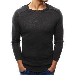 Sweter męski grafitowy (wx1002). Szare kardigany męskie marki Dstreet, m, z bawełny, z okrągłym kołnierzem. Za 69,99 zł.