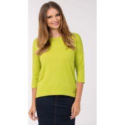 Swetry klasyczne damskie: Gładki sweter na co dzień