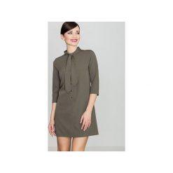 Sukienka K369 Oliwka. Zielone sukienki mini marki Reserved, z wiskozy. Za 149,00 zł.