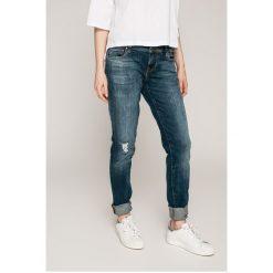 Guess Jeans - Jeansy STARLET. Niebieskie jeansy damskie rurki marki Guess Jeans, z bawełny, z obniżonym stanem. W wyprzedaży za 299,90 zł.