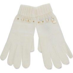 Rękawiczki Damskie LIU JO - Guanti Maglia Perle N68308 M0300 Bianco Iana 00086. Białe rękawiczki damskie Liu Jo, z materiału. Za 199,00 zł.