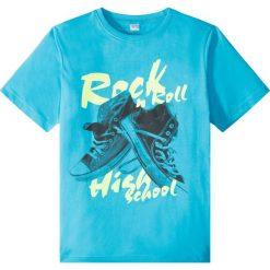 Odzież chłopięca: Shirt z nadrukiem bonprix błękit laguny